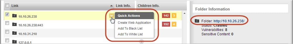 Take actions on web app links Create a new web application from a link, or add