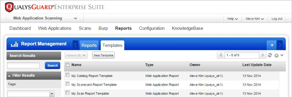 Creating Reports Customizable report templates For WAS 4.0 we ve added customizable report templates.