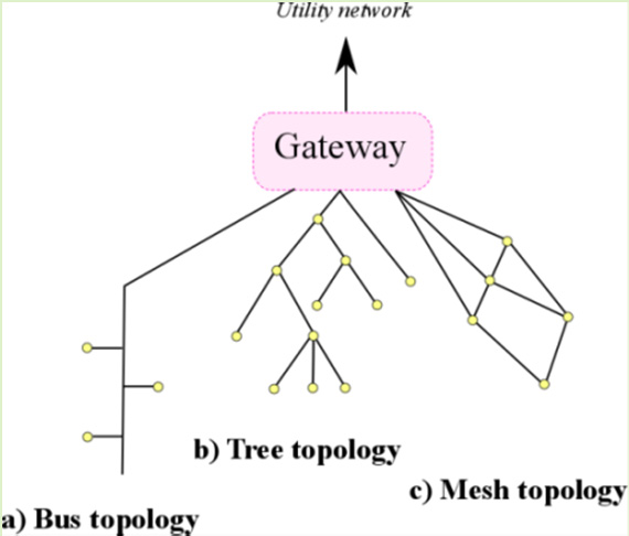 transmission medium and directly communicate with each other; this is typical for power lines and coaxial cables. In the tree topology (Figure 19.