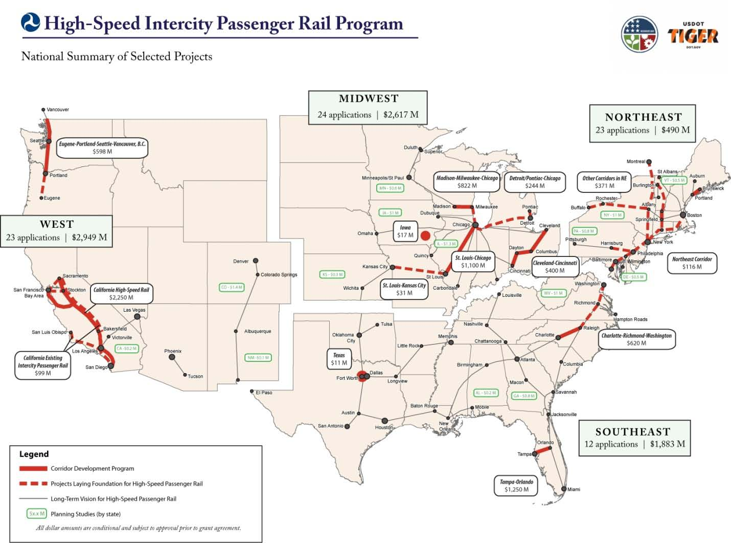 Source: U.S. DOT Federal Railroad Administration California s high-speed rail mega-project promises to alter significantly the transportation landscape in California by connecting the State s largest