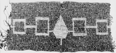 The Hiawatha Wampum Belt This wampum belt records the structure and principles of the Iroquois Confederacy.