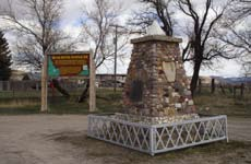 To detour to the Bear River Massacre National Historic Landmark, see the Also of Interest item below. Otherwise, continue west on U.S.