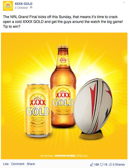 4.1.4 Call to consume Alcohol brands go beyond just linking alcohol to celebratory rituals in sport.