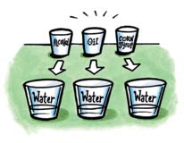 Activity 4.4 Dissolving different liquids in water Question to investigate Do all liquids dissolve in water? 1. Introduce the idea that liquids can dissolve in water.