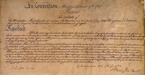 The US Constitution was adopted by convention of States on September 17, 1787; and the ratification process was completed, on June 21, 1788.