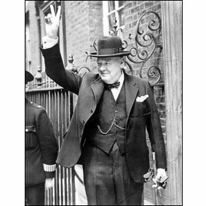 Churchill never gave up and he helped the people of Great Britain to be brave against the German Nazi regime.