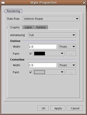 Graphic Settings Antialiasing - Antialiasing is used for smoothing jagged edges in text characters and line segments.