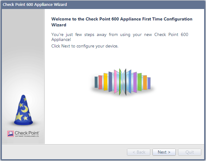Configuring Check Point 600 Appliance Welcome The Welcome page