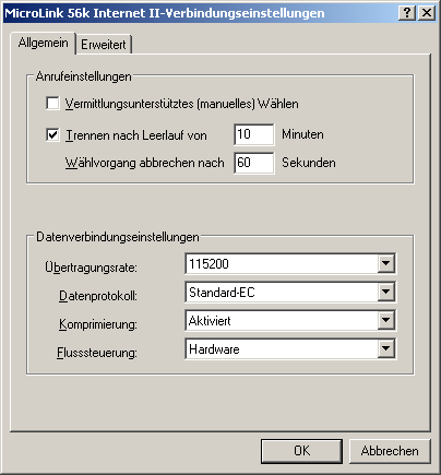 2.2 RAS-Server Configuration using Windows2000/ XP and 2003 In general it should be noted that the setting up of connections for dial up, incoming calls and RASPhone book entries differ depending on