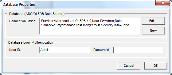 6. Database Projex Messenger deploys an open database (ADO/OLEDB) to store its data.