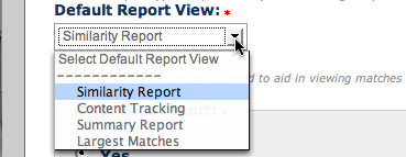 Select whether or not the Similarity Reports are color coded, the default setting is that the reports are
