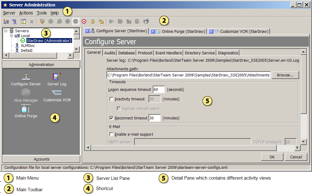Server Administration Tool This topic describes the UI for the Server Administration Tool.