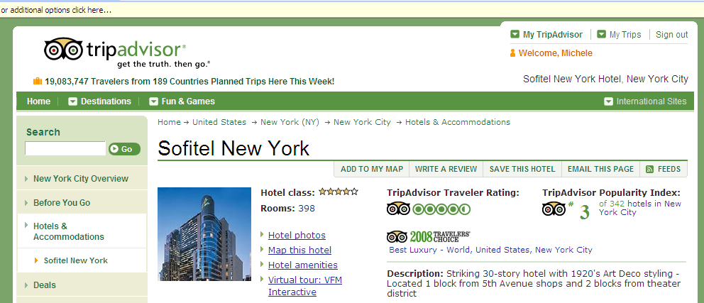 TripAdvisor s Popularity Index Unique rating of hotels.