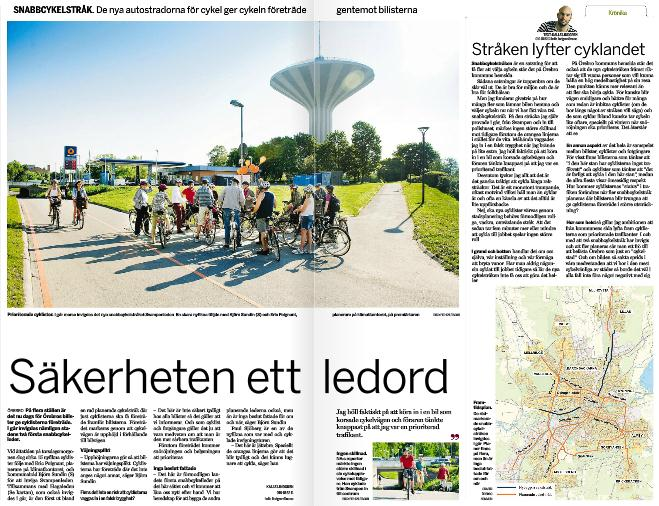 MEDIA A lot has been written in various media about the Municipality of Örebro s efforts to increase the use of bicycles.