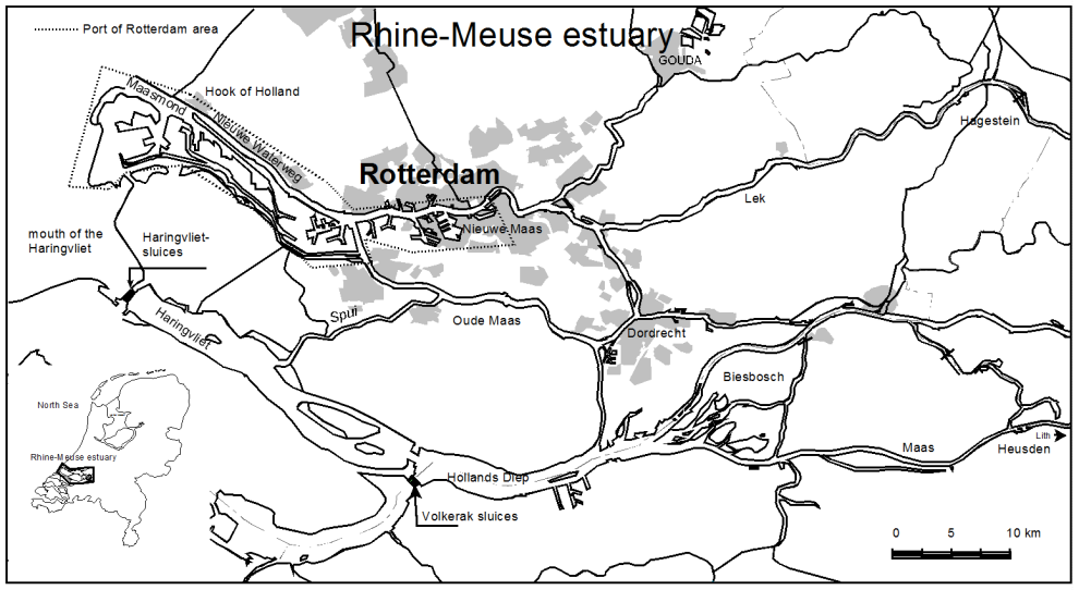 Climate change; New threats of a old enemy Teredo navalis (Fig. 1), based on the discharge of the Rhine at the Dutch-German border (Qbr).