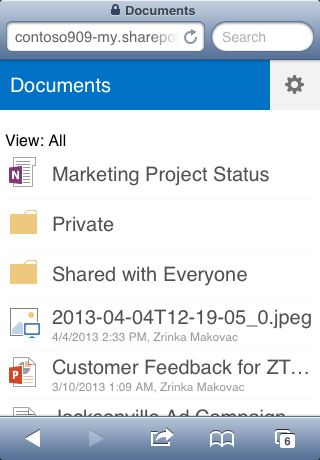 Collaborate and work on documents on OneDrive for Business or SharePoint team sites Mobile view A SharePoint team site is where your team communicates, shares documents, and works together on