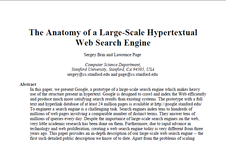 PageRank PageRank (Brin & Page, 1998) is an alternative to HITS that