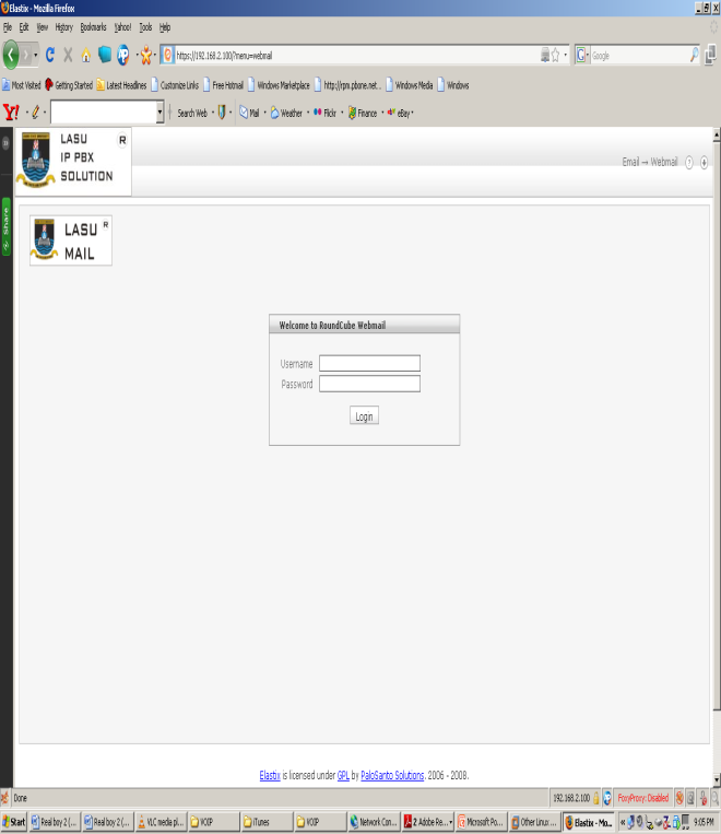 Page Showing a Configured User.