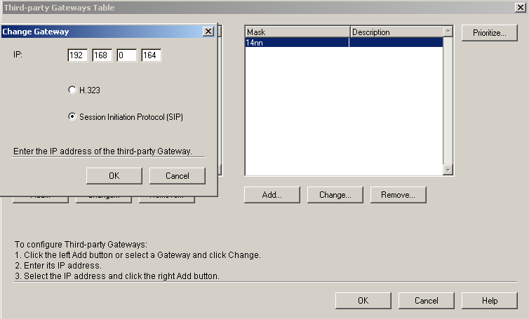 Telephone Interconnect General VoIP Gateway settings Using