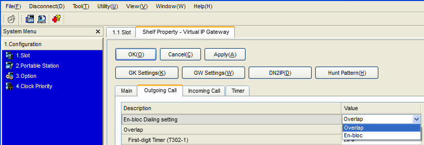 4.2.3 Programming the Network Settings 3. a. From the system menu, click System. b. Click Numbering Plan. c. Click Main. d. Click the Other PBX Extension tab. e.