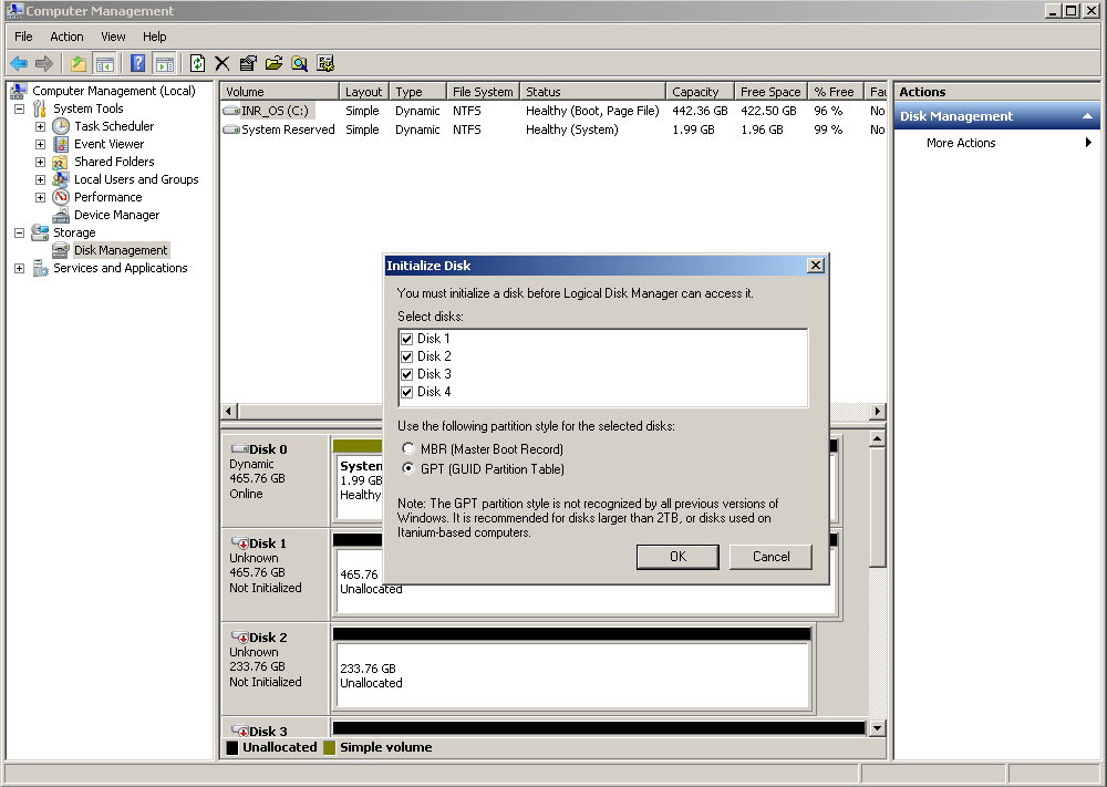 Create Volume and Configure Software RAID 1. Click Window Start, in Windows Search Box, input Computer Management, and enter this utility. 2.