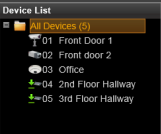 Manage Multiple Devices After adding several devices to the system, you may get an overview of all devices on Setup page Device tab; this is where you may use certain fast and convenient approaches