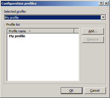 4.2.1.1 Update profiles Update profiles can be created for various update configurations and tasks.