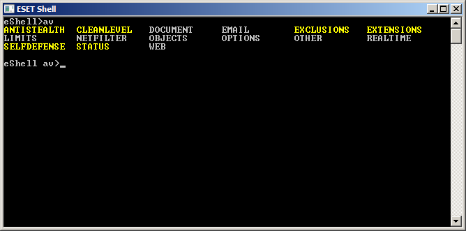 These are the prefixes that eshell lets you use.