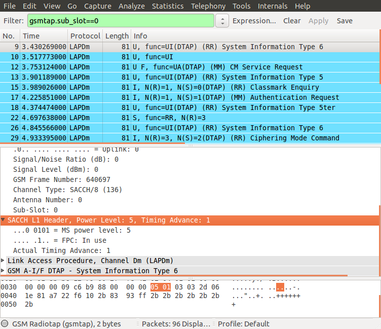 will produce Wireshark data for the frames that can be decoded and the rest of the data in out.txt.