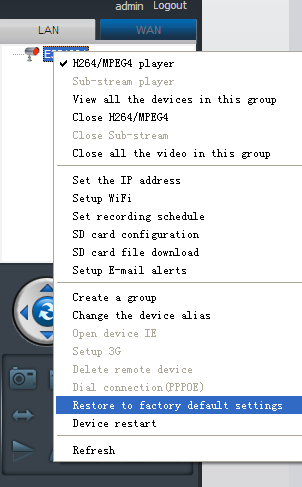 6.1.5. Groups (1) Create a Group: Right click the camera ID and select Create a group. Enter a name for the group in the pop-up interface.