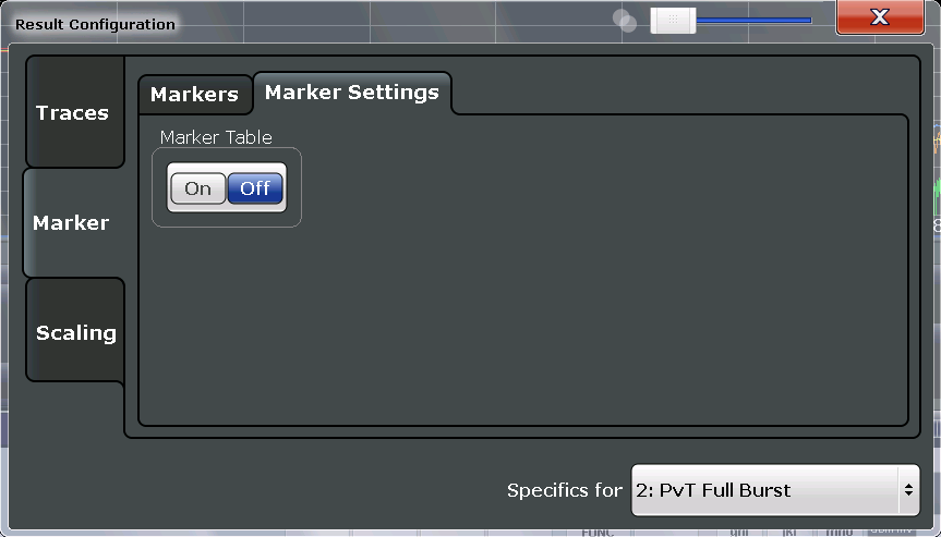 "Analysis Result Configuration 7.1.2.2 General Marker Settings General marker settings are defined in the ""Marker Config"" tab of the ""Marker"" dialog box."