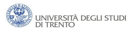 Teaching, International Programmes and Student Administration Division Students studying at the University of Trento receive guidance and
