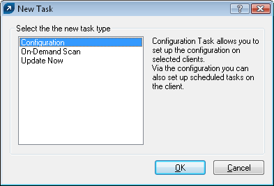 5. Tasks ESET Remote Administrator allows you to remotely perform tasks on client workstations.