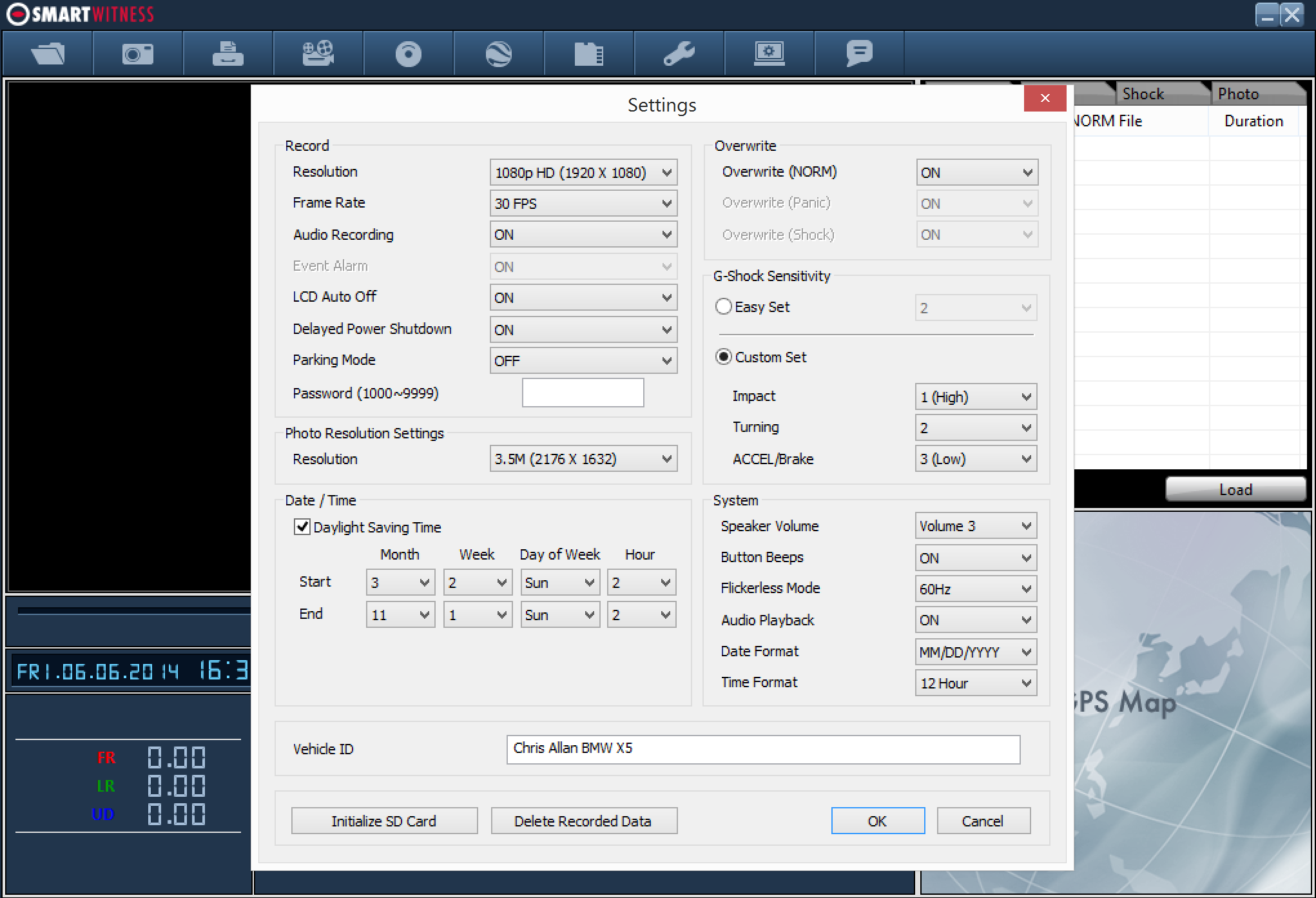 Flexible Recording Options & Settings Recording settings can be set at