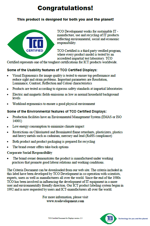 TCO DOCUMENT (FOR
