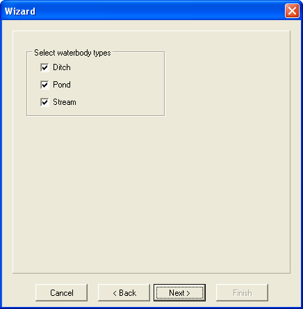 Figure 2.12: The User-Defined Wizard Crops After the crops have been selected, the user continues the wizard procedure by clicking on Next.