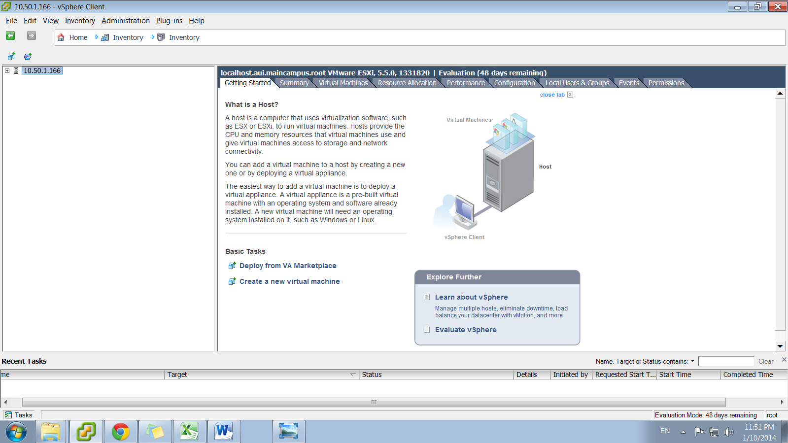 Appendix B. OpenStack with VMware ESXi Configuration 1. Downloading VMware ESXi Download VMware ESXi (vsphere 5.5) from: https://my.vmware.com/web/vmware/evalcenter?p=vsphere-55 2.