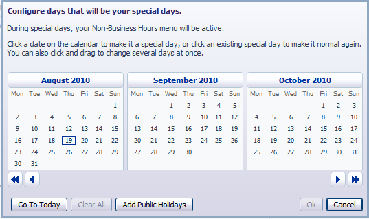 7. Next you will need to establish your working hours by selecting the Schedule tab.