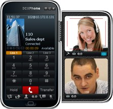 Presence is displayed in any standards-based IP phone, as well as in the 3CX MyPhone user portal.