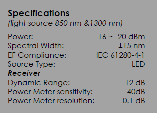 connector system (SC/ST/LC) Faults detection