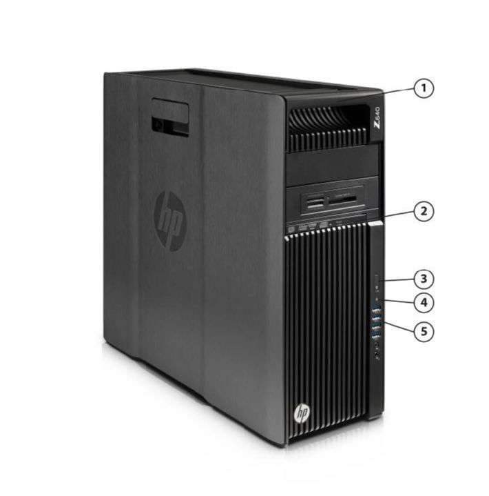 Overview 1. Integrated Front Handle 4. HDD Activity LED 2. Dedicated 9.5mm Optical Drive Bay 5. Front I/O: 4 USB 3.