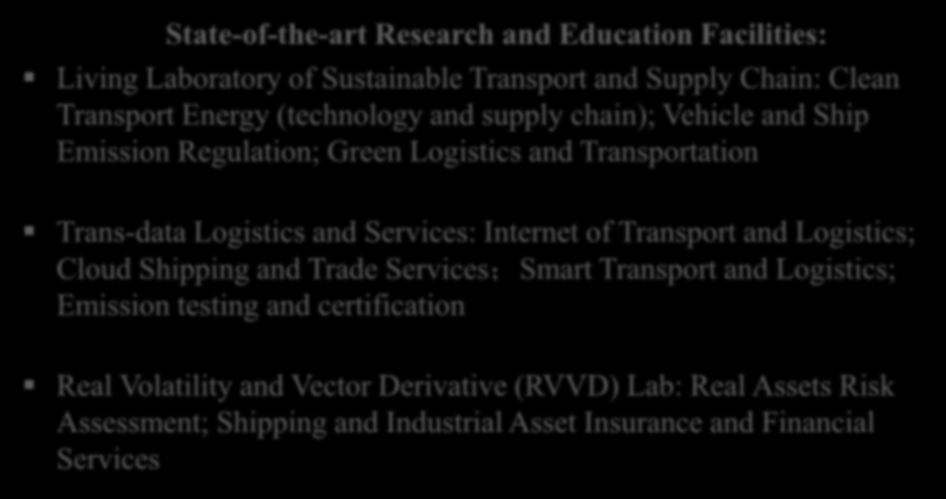 Laboratories for Sustainable Transport, Energy and Technology (STET Labs) Location:AC3 Room 6-201 State-of-the-art Research and Education Facilities: Living Laboratory of Sustainable Transport and