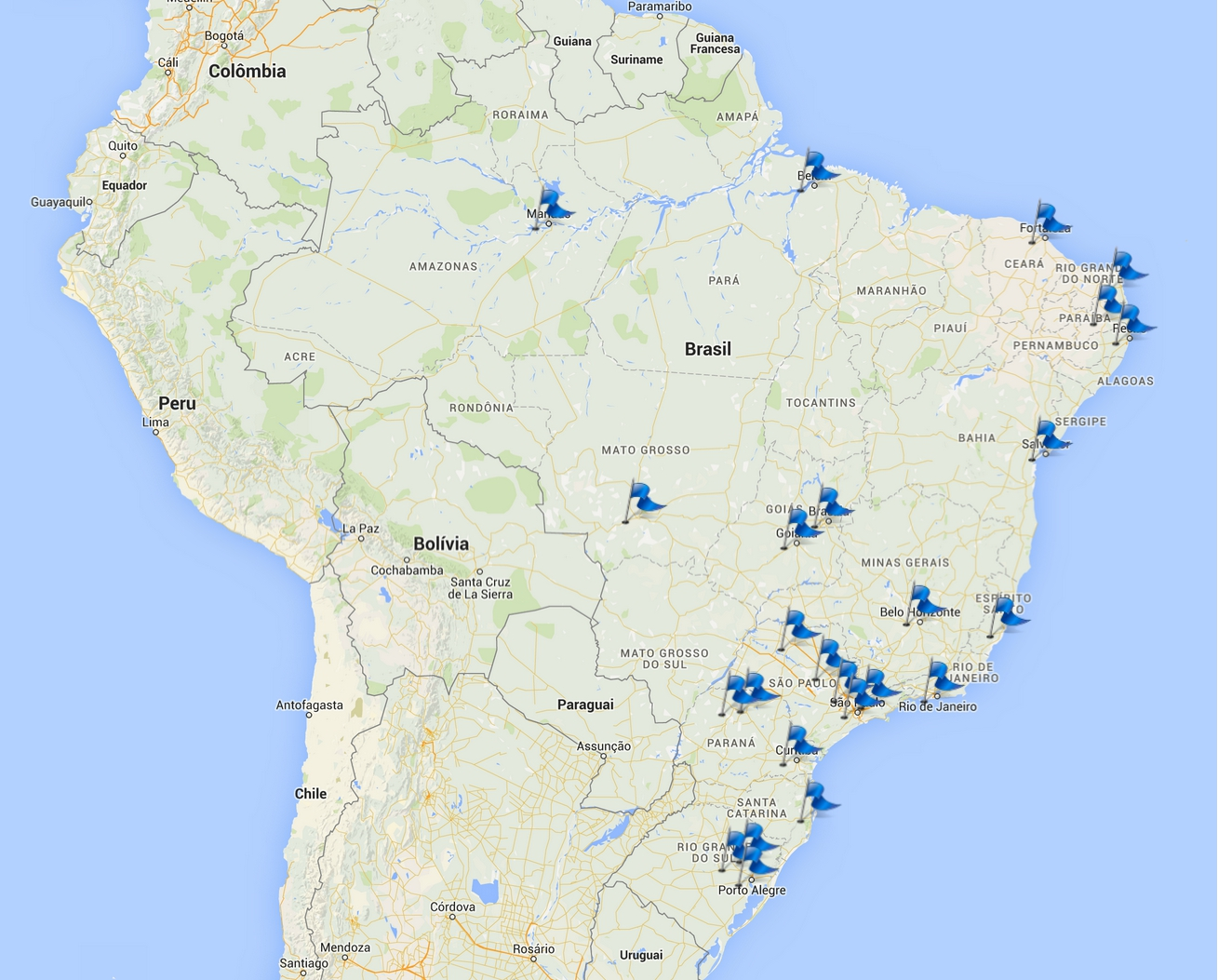 PTT.br 2015-25 Locations in Operation Each
