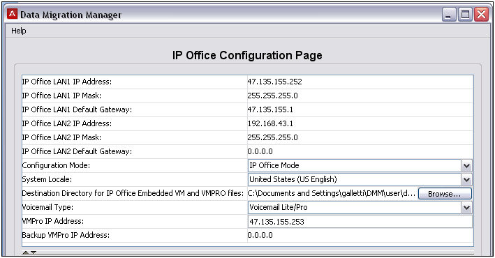 Upgrading to IP Office Modifying the hardware information table For this part of the migration it is imperative that you review and modify the hardware information determined by DMM, and configure