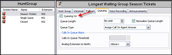Upgrading to IP Office 6. Repeat steps 1 5 for each new hunt group that you require (in the image above, a third hunt group is required to answer 'Closed Business' callers). 7.