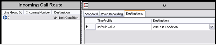 Configuring voicemail recordings in IP Office 6. Important: Create an incoming call route to use the Auto Attendant created above. a. Using Manager, create an Incoming Call Route. b.