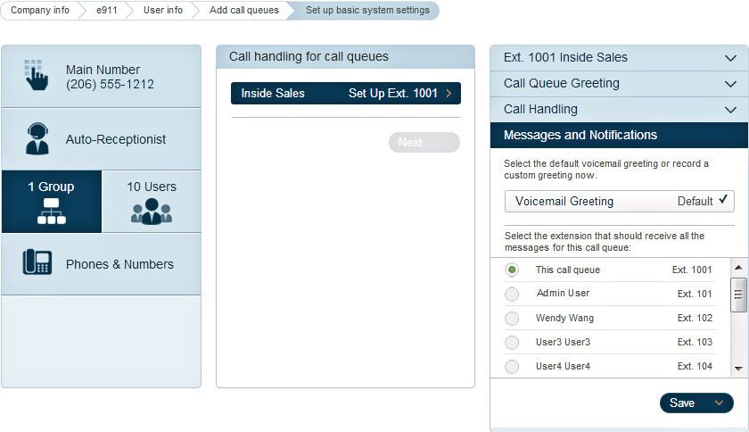 RingCentral Office Reference Guide Getting Started Under Messages and Notifications, select default voicemail greeting or record a custom greeting
