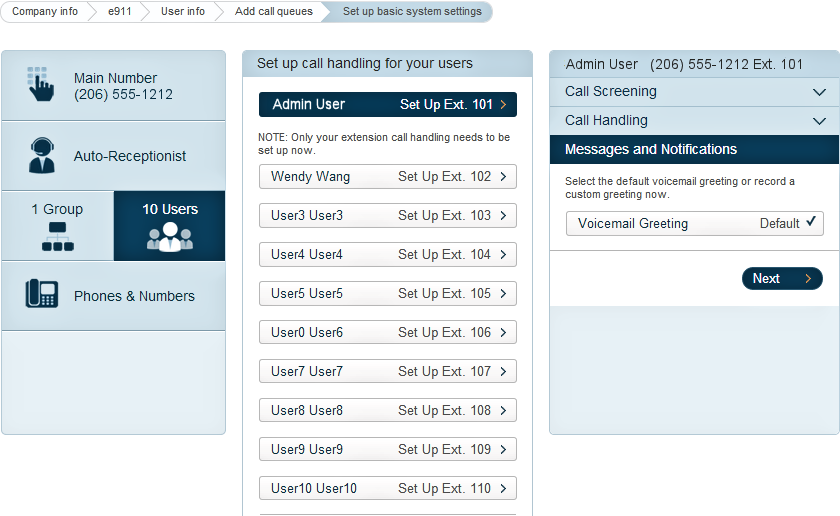 RingCentral Office Reference Guide Getting Started Under Messages and Notifications select the default voicemail