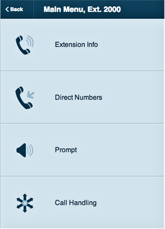 RingCentral Office Reference Guide Multi-level IVR Settings Mobile Web via Mobile App From the Mobile App, admins can access
