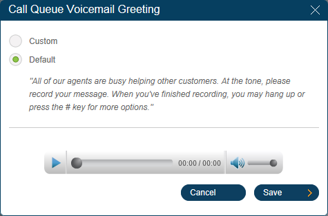 RingCentral Office Reference Guide Groups and Call Queues Call Queue Voicemail RingCentral allows each Call Queue to have separate voicemails to greet unanswered calls, as well as allows you to set a